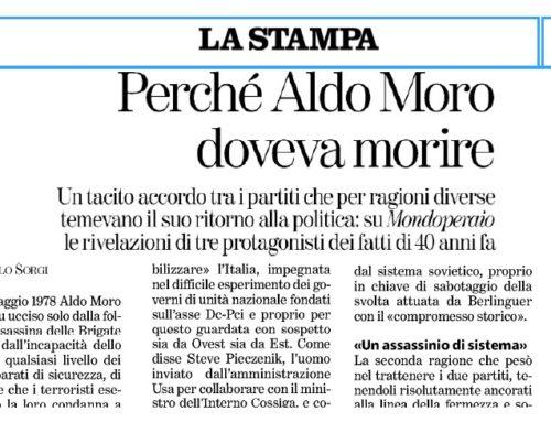 Perchè Aldo Moro doveva morire  di M. SORGI su La Stampa 7/5/2018