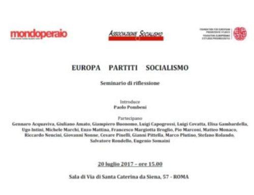 Europa Partiti Socialismo – Seminario di riflessione  – 20/07/2017