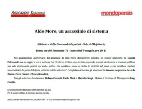 Aldo Moro, un assassinio di sistema – VIDEO – 9/5/2018